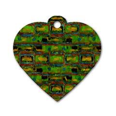 Paint Bricks                                                                 dog Tag Heart (one Side) by LalyLauraFLM