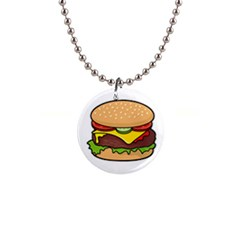 Cheeseburger Button Necklaces by sifis