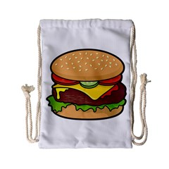 Cheeseburger Drawstring Bag (Small)