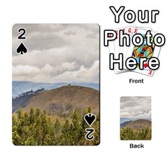 Ecuadorian Landscape At Chimborazo Province Playing Cards 54 Designs  by dflcprints