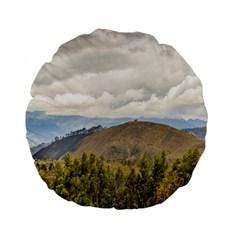 Ecuadorian Landscape At Chimborazo Province Standard 15  Premium Flano Round Cushions by dflcprints