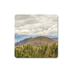 Ecuadorian Landscape At Chimborazo Province Square Magnet by dflcprints