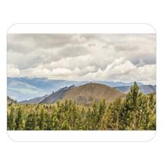 Ecuadorian Landscape At Chimborazo Province Double Sided Flano Blanket (large)  by dflcprints