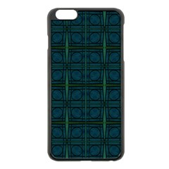 Dark Blue Teal Mod Circles Apple Iphone 6 Plus/6s Plus Black Enamel Case by BrightVibesDesign
