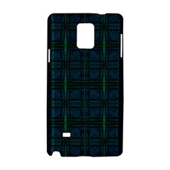 Dark Blue Teal Mod Circles Samsung Galaxy Note 4 Hardshell Case by BrightVibesDesign