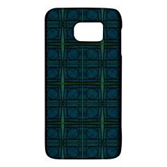 Dark Blue Teal Mod Circles Galaxy S6 by BrightVibesDesign