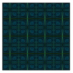 Dark Blue Teal Mod Circles Large Satin Scarf (Square) by BrightVibesDesign