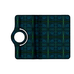 Dark Blue Teal Mod Circles Kindle Fire Hd (2013) Flip 360 Case by BrightVibesDesign