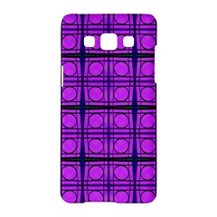 Bright Pink Mod Circles Samsung Galaxy A5 Hardshell Case  by BrightVibesDesign