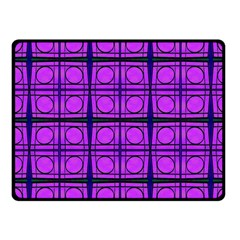 Bright Pink Mod Circles Fleece Blanket (small) by BrightVibesDesign