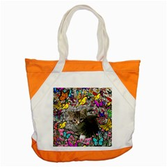 Emma In Butterflies I, Gray Tabby Kitten Accent Tote Bag by DianeClancy