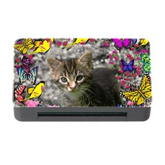 Emma In Butterflies I, Gray Tabby Kitten Memory Card Reader With Cf by DianeClancy