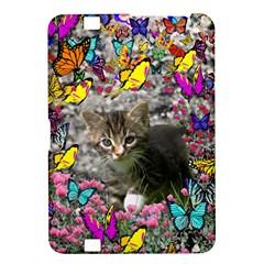 Emma In Butterflies I, Gray Tabby Kitten Kindle Fire Hd 8 9  by DianeClancy