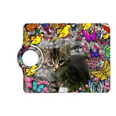 Emma In Butterflies I, Gray Tabby Kitten Kindle Fire Hd (2013) Flip 360 Case by DianeClancy