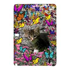 Emma In Butterflies I, Gray Tabby Kitten Samsung Galaxy Tab Pro 12 2 Hardshell Case by DianeClancy