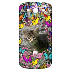 Emma In Butterflies I, Gray Tabby Kitten Samsung Galaxy S3 S Iii Classic Hardshell Back Case by DianeClancy