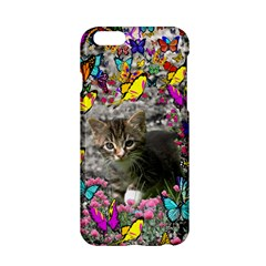 Emma In Butterflies I, Gray Tabby Kitten Apple Iphone 6/6s Hardshell Case by DianeClancy