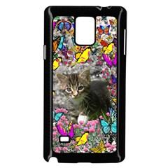 Emma In Butterflies I, Gray Tabby Kitten Samsung Galaxy Note 4 Case (black) by DianeClancy