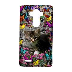 Emma In Butterflies I, Gray Tabby Kitten Lg G4 Hardshell Case by DianeClancy