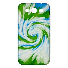 Tie Dye Green Blue Abstract Swirl Samsung Galaxy Mega 5 8 I9152 Hardshell Case  by BrightVibesDesign