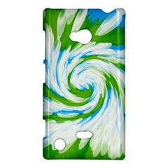 Tie Dye Green Blue Abstract Swirl Nokia Lumia 720 by BrightVibesDesign