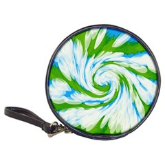 Tie Dye Green Blue Abstract Swirl Classic 20 Cd Wallets by BrightVibesDesign