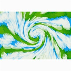 Tie Dye Green Blue Abstract Swirl Collage Prints by BrightVibesDesign