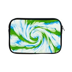 Tie Dye Green Blue Abstract Swirl Apple Ipad Mini Zipper Cases by BrightVibesDesign