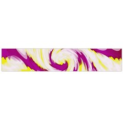 Tie Dye Pink Yellow Abstract Swirl Flano Scarf (large)  by BrightVibesDesign