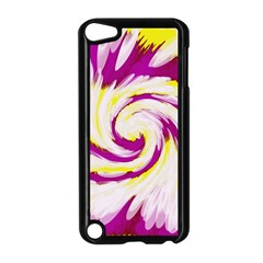 Tie Dye Pink Yellow Abstract Swirl Apple Ipod Touch 5 Case (black) by BrightVibesDesign