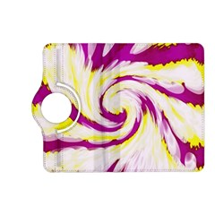 Tie Dye Pink Yellow Abstract Swirl Kindle Fire Hd (2013) Flip 360 Case by BrightVibesDesign