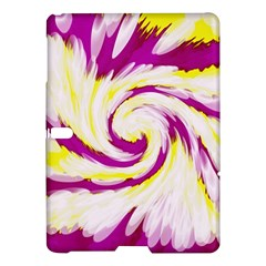 Tie Dye Pink Yellow Abstract Swirl Samsung Galaxy Tab S (10 5 ) Hardshell Case  by BrightVibesDesign
