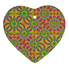 Modern Colorful Geometric Heart Ornament (2 Sides) by dflcprints