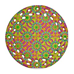 Modern Colorful Geometric Ornament (round Filigree)  by dflcprints