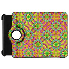 Modern Colorful Geometric Kindle Fire Hd Flip 360 Case by dflcprints