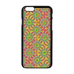 Modern Colorful Geometric Apple Iphone 6/6s Black Enamel Case by dflcprints