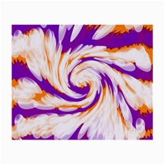 Tie Dye Purple Orange Abstract Swirl Small Glasses Cloth (2 Side) by BrightVibesDesign