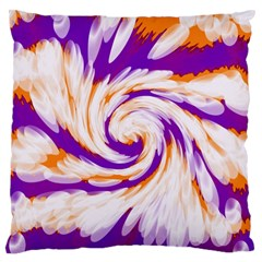 Tie Dye Purple Orange Abstract Swirl Standard Flano Cushion Case (one Side) by BrightVibesDesign