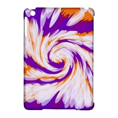 Tie Dye Purple Orange Abstract Swirl Apple Ipad Mini Hardshell Case (compatible With Smart Cover) by BrightVibesDesign