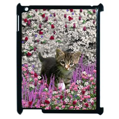 Emma In Flowers I, Little Gray Tabby Kitty Cat Apple Ipad 2 Case (black) by DianeClancy