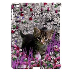 Emma In Flowers I, Little Gray Tabby Kitty Cat Apple Ipad 3/4 Hardshell Case (compatible With Smart Cover) by DianeClancy
