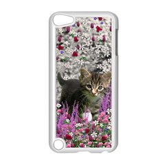 Emma In Flowers I, Little Gray Tabby Kitty Cat Apple Ipod Touch 5 Case (white) by DianeClancy