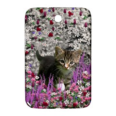 Emma In Flowers I, Little Gray Tabby Kitty Cat Samsung Galaxy Note 8 0 N5100 Hardshell Case  by DianeClancy