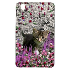 Emma In Flowers I, Little Gray Tabby Kitty Cat Samsung Galaxy Tab Pro 8 4 Hardshell Case by DianeClancy