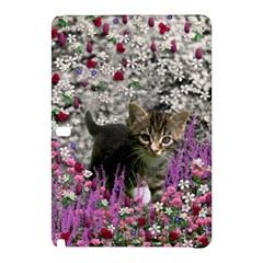 Emma In Flowers I, Little Gray Tabby Kitty Cat Samsung Galaxy Tab Pro 12 2 Hardshell Case by DianeClancy
