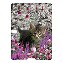 Emma In Flowers I, Little Gray Tabby Kitty Cat Samsung Galaxy Tab S (10 5 ) Hardshell Case  by DianeClancy