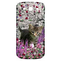 Emma In Flowers I, Little Gray Tabby Kitty Cat Samsung Galaxy S3 S Iii Classic Hardshell Back Case by DianeClancy