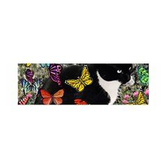 Freckles In Butterflies I, Black White Tux Cat Satin Scarf (oblong) by DianeClancy