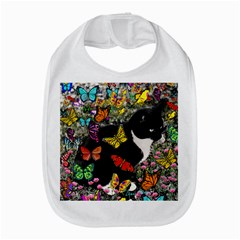 Freckles In Butterflies I, Black White Tux Cat Bib by DianeClancy