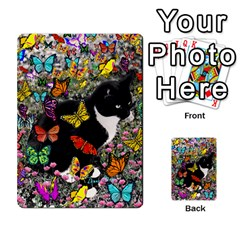 Freckles In Butterflies I, Black White Tux Cat Multi Purpose Cards (rectangle)  by DianeClancy